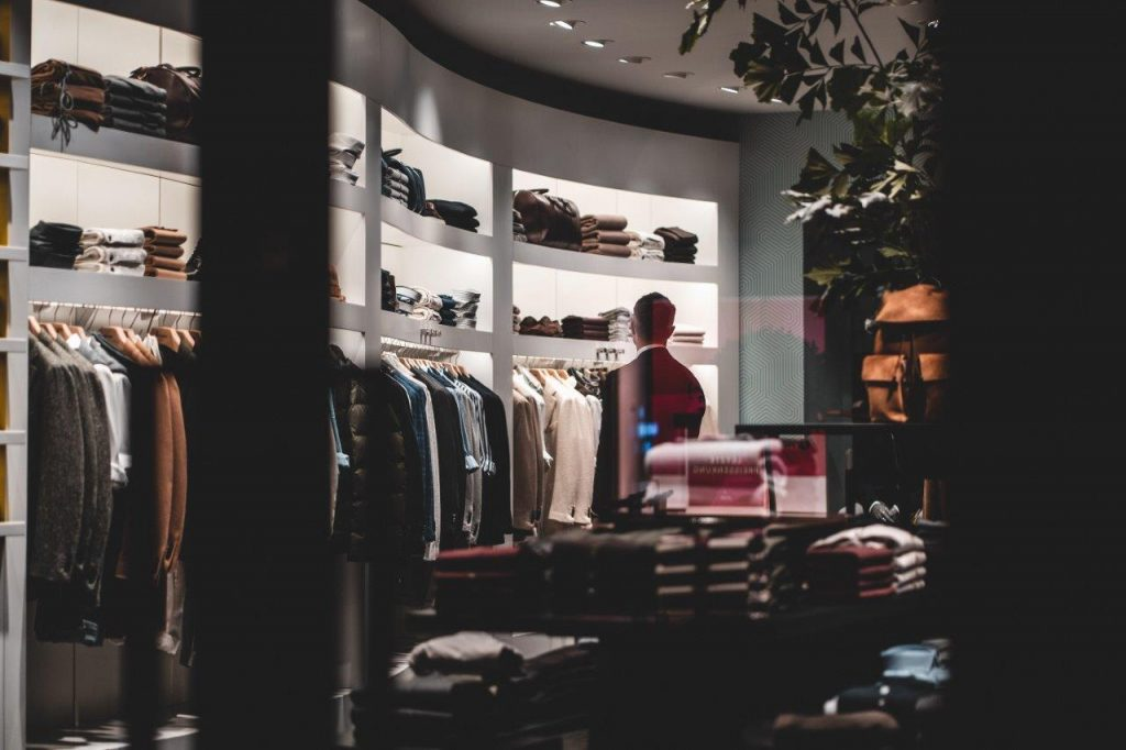 Male in Clothing shop.