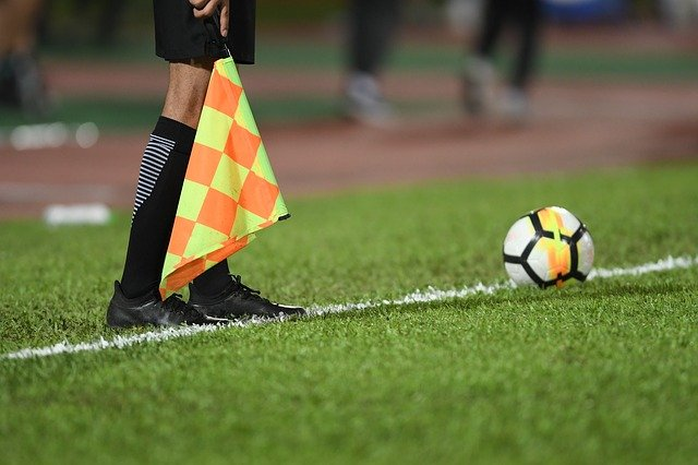 referee with flag